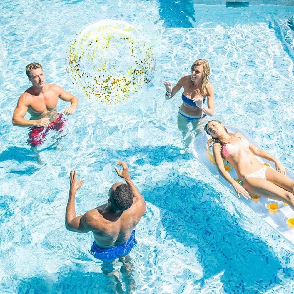 YGSAT 1pcs 16 de Bola de Playa Pulgadas Transparente de ...