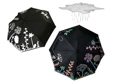 Cambio de color paraguas automático abierto y cerrado a prueba de viento para hombres y mujeres