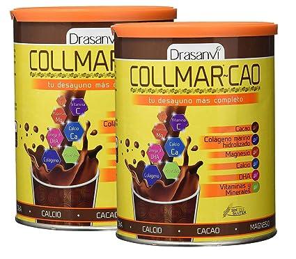 Collmar, colágeno marino hidrolizado con magnesio, calcio, vitaminas y minerales para un desayuno completo 300g
