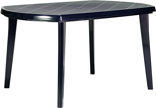Ribelli® Table de Jardin Plastique \'Elise\' Bleu, Table à ...