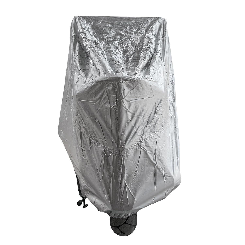 Motorrad Abdeckung Wasserdicht UV Schutz Garage Roller Silber S