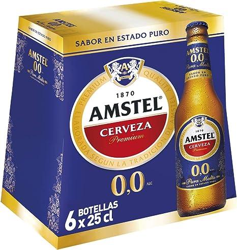 Amstel 00 Cerveza - Pack de 6 Botellas x 250 ml (Total: 1.5 L ...