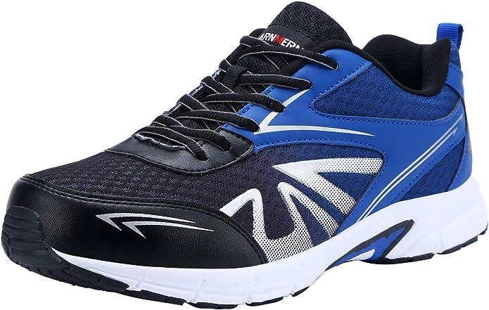 LARNMERN Zapatos de Seguridad para Hombre con Puntera de Acero Zapatillas de Seguridad Trabajo, Calzado de Industrial y Deportiva (42 EU, Negro): Amazon.es: Zapatos y complementos