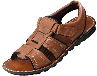 840ed69e8 VKC Pride Men's Synthetic Leather Sandals: Buy Online at Low Prices ...