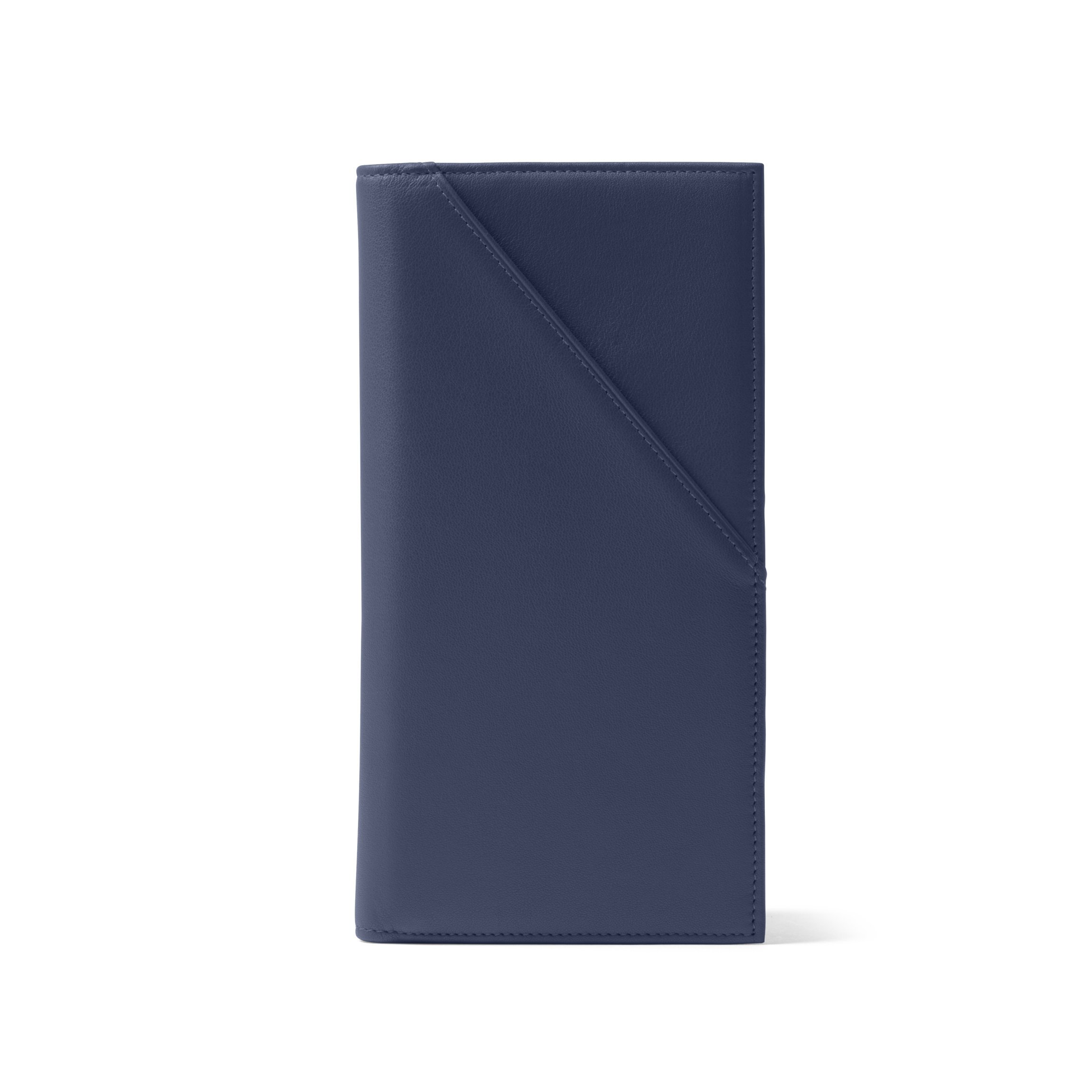 Travel Document Holder - Full Grain Leather - Navy (blue)
