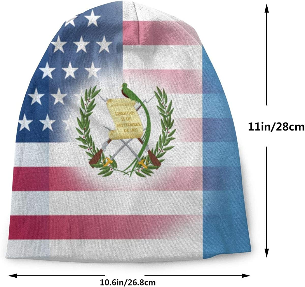 Lake-OD USA Guatemala Flag Thin Baggy Slouchy Knit Beanie Hat Hip-hop Skull Cap for Mens and Womens