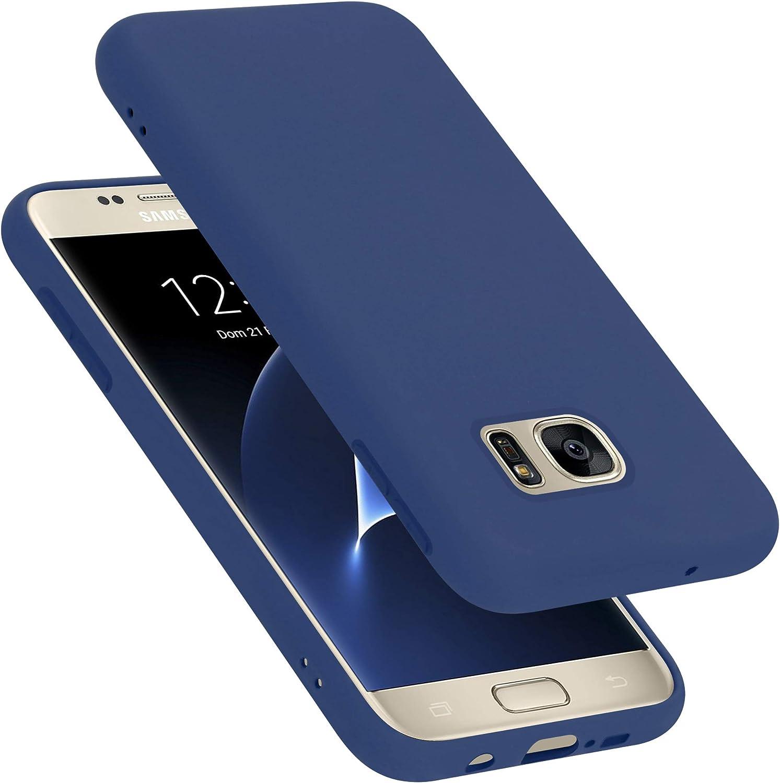 Cadorabo Hülle Für Samsung Galaxy S7 In Liquid Blau Elektronik