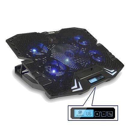 Meco – Base de refrigeración para ordenador portátil ajustable portátil Cooling Pad para 12 – 15