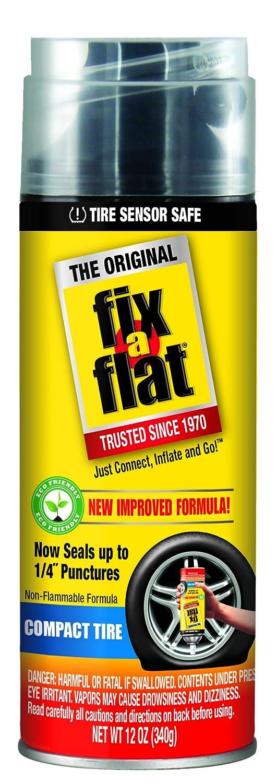 Fix-A-Flat S60266 Aerosol Tire Inflator with Eco-Friendly Formula, 12 oz. Hose Connect