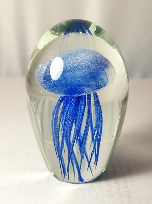 Huge M Design Art Flowers Art Series Glass Paperweight 1