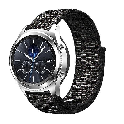 3 opinioni per BarRan® Samsung Gear S3 Frontier Cinturino, Braccialetto di Ricambio in Nylon