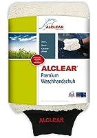 ALCLEAR 950013WH Premium Waschhandschuh, weiß mit schwarzem Bündchen, extra flauschig
