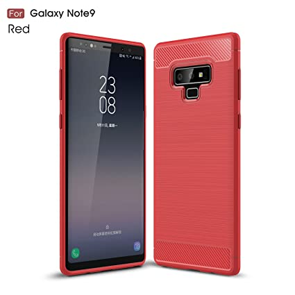 Galaxy Note 9 Case, Cruzerlite Carbon Fiber Shock Absorption Slim Case for Samsung Galaxy Note 9 (Red)