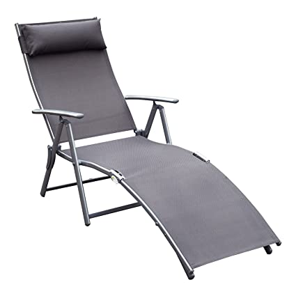 Groovy Amazon Com Gjh One Chaise Lounge Chair Folding Pool Beach Ibusinesslaw Wood Chair Design Ideas Ibusinesslaworg