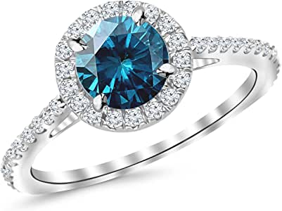 1.05 Ctw 14K White Gold Classic Round Diamond Engagement