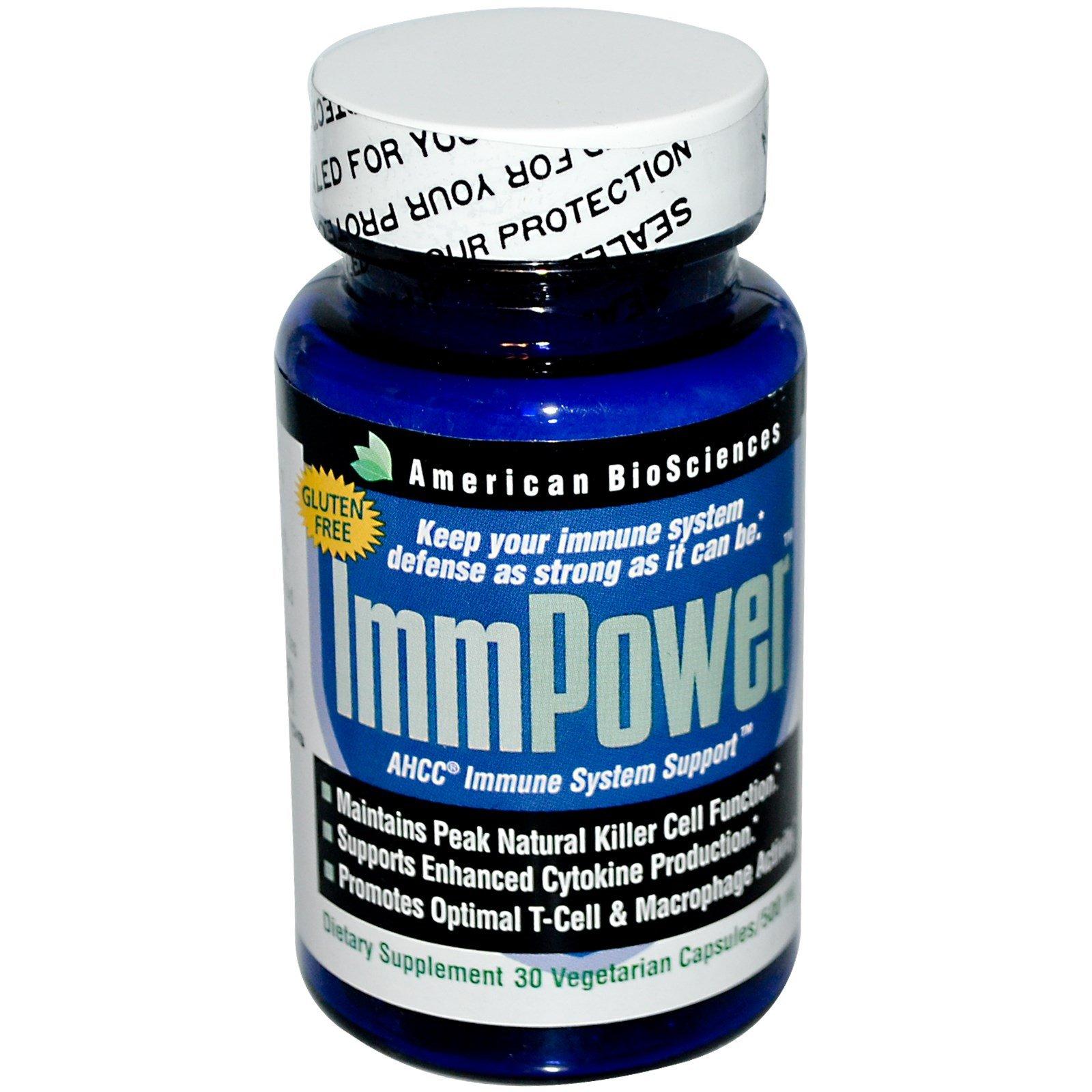 American Biosciences, ImmPower, AHCC Immune System Support, 500 mg, 30 Veggie Caps - 3PC