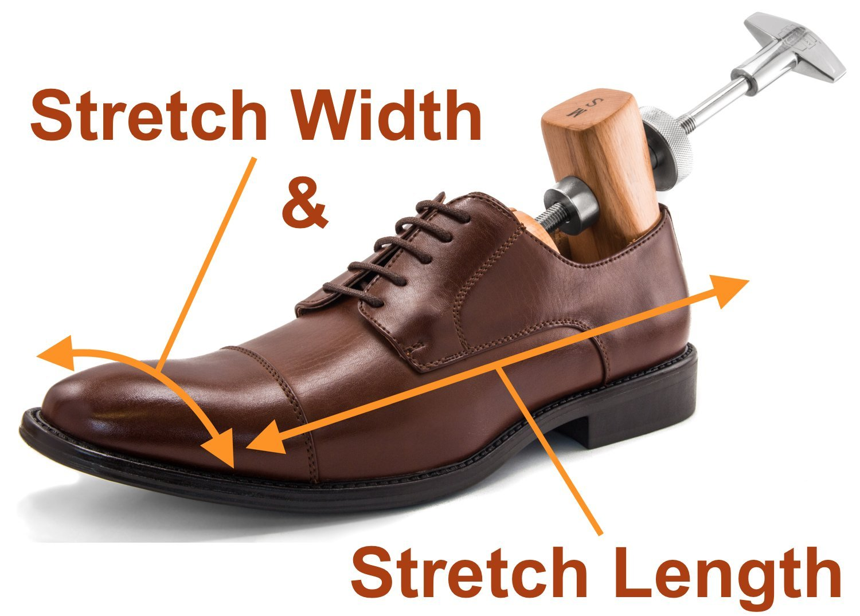 "HOUNDSBAY""Bulldog"" Heavy-Duty Wood & Metal 2-Way Premium Shoe Stretcher (Womens Medium / 7-9)"