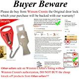 Winston Cronin Portable Door Lock for Travelers Inside for Bedroom Door Lockdown Lock for Security Device Home Apartment Living Hotel Motel Outward from Outside(Shipping by FBA)