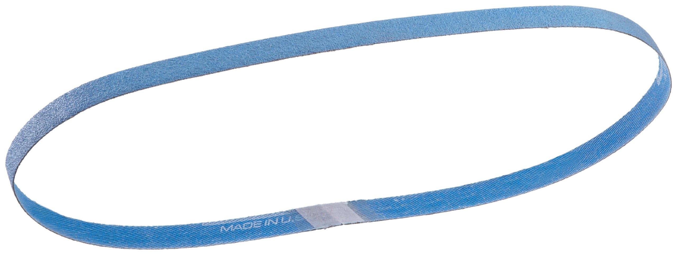 Norton BlueFire R823P File Abrasive Belt, Waterproof, Polyester Backing, Zirconia Alumina, 3/8'' Width, 13'' Length, Grit 60 (Pack of 50)