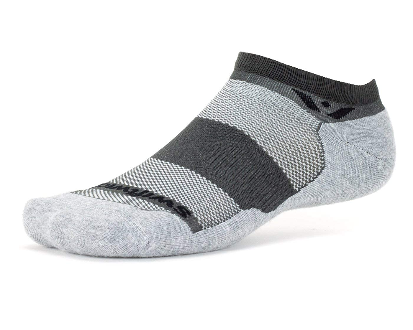 Swiftwick – MAXUS ZERO | Socks Built for Running Golf | Plush Cushion ALL DAY Comfort No Show Socks