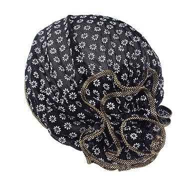 dbc2350246b CHIDY Women Flower Cancer Chemo Hat Beanie Scarf Turban Head Wrap Cap  Fashion Casual Shower Hat
