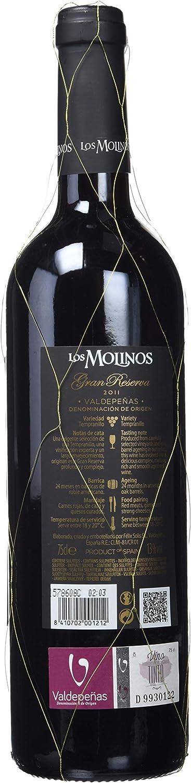 Los Molinos Gran Reserva Tinto D O Valdepeñas Vino Paquete De 6 X 750 Ml Total 4500 Ml Amazon Es Alimentación Y Bebidas