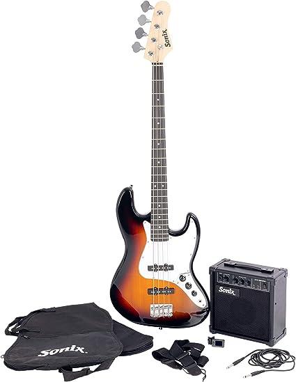 Sonix J-Style - Juego de guitarra bajo (Sunburst): Amazon.es ...