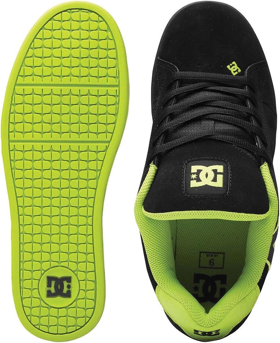 DC Men's Net Action Sports Shoe Black/Soft Lime