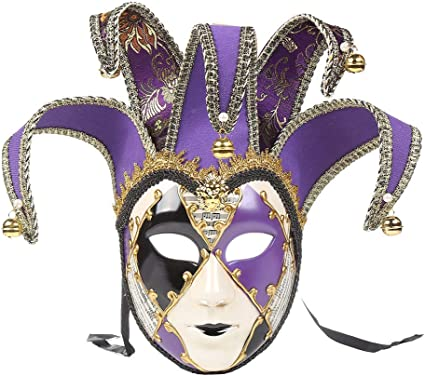 Mardi Gras Mask Theater Masquerade Mask w// Feathers Costume