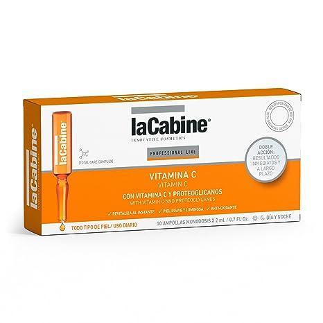 La Cabine Ampollas Vitamina C Facial - 10 Ampollas | Corrector Ojeras | Protector Solar -