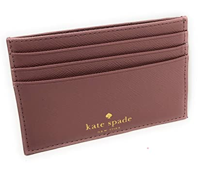 free shipping d9a6e 21ce2 Kate Spade New York Graham Greta Court Wallet Business Credit Card Case  Glitter Dusty Peony