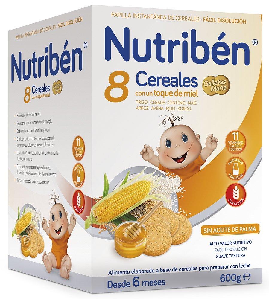 NUTRIBEN 8 CEREALES MIEL GALLETAS 600 GR: Amazon.com ...
