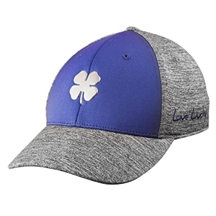 db17272e942 Amazon.com   Black Clover Fitted Hat Heather Luck 3   Clothing