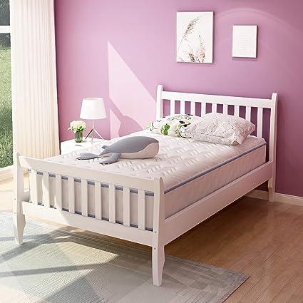 Rockjame - Base de colchón con Plataforma Premium y Soporte de Listones de Madera Resistente, fácil de Montar, no Necesita somier, Ideal para niños, ...