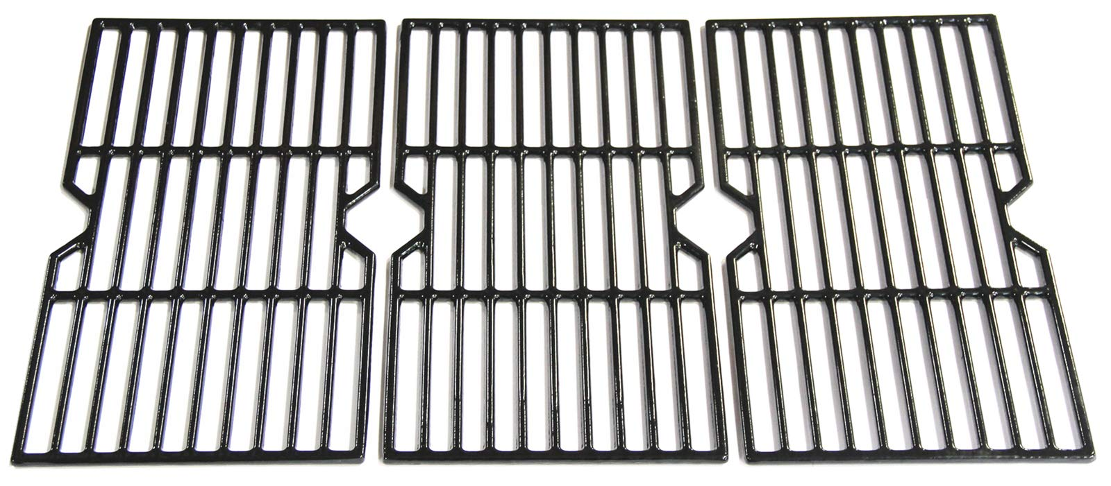 VICOOL HyG876C Porceleain Coated Cast Iron Cooking Grid Replacement for Select Gas Grill Models by Charbroil, Kenmore and Others, Set of 3
