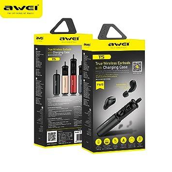 Auriculares Bluetooth + Mini Compartimiento De Carga Privada, Auriculares Binaurales Inalámbricos T5, Auriculares Deportivos