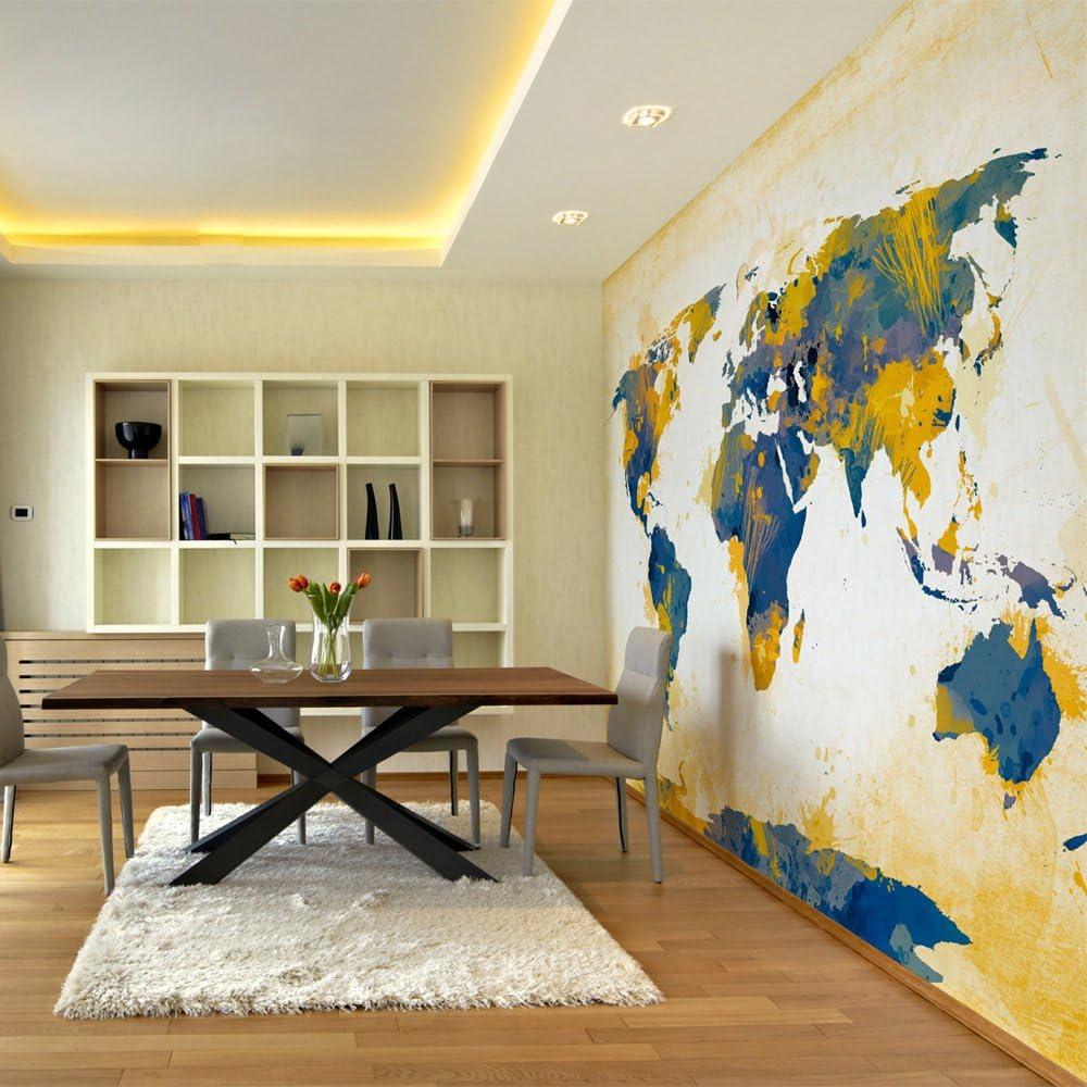 murando Carta da parati 50x39 cm Fotomurali in TNT Murale alla moda Decorazione da Muro XXL Poster Gigante Design Carta per pareti Mappa del mondo 10040910-81