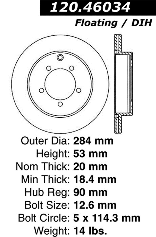 StopTech 126.46034CSR Brake Rotor