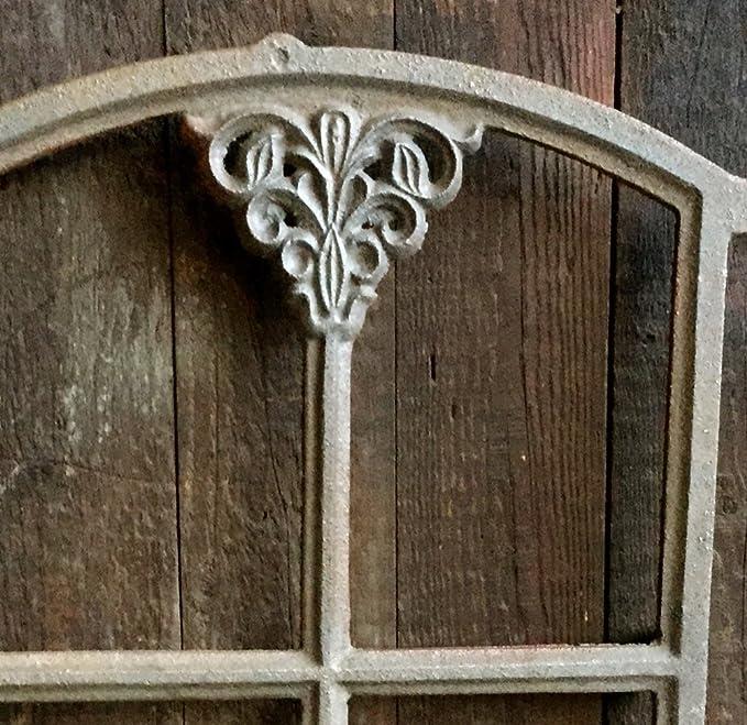 Bauernfenster f/ür Gartenlaube 46 x 31cm Eisenfenster Gartenmauer ca Stallfenster Antikas