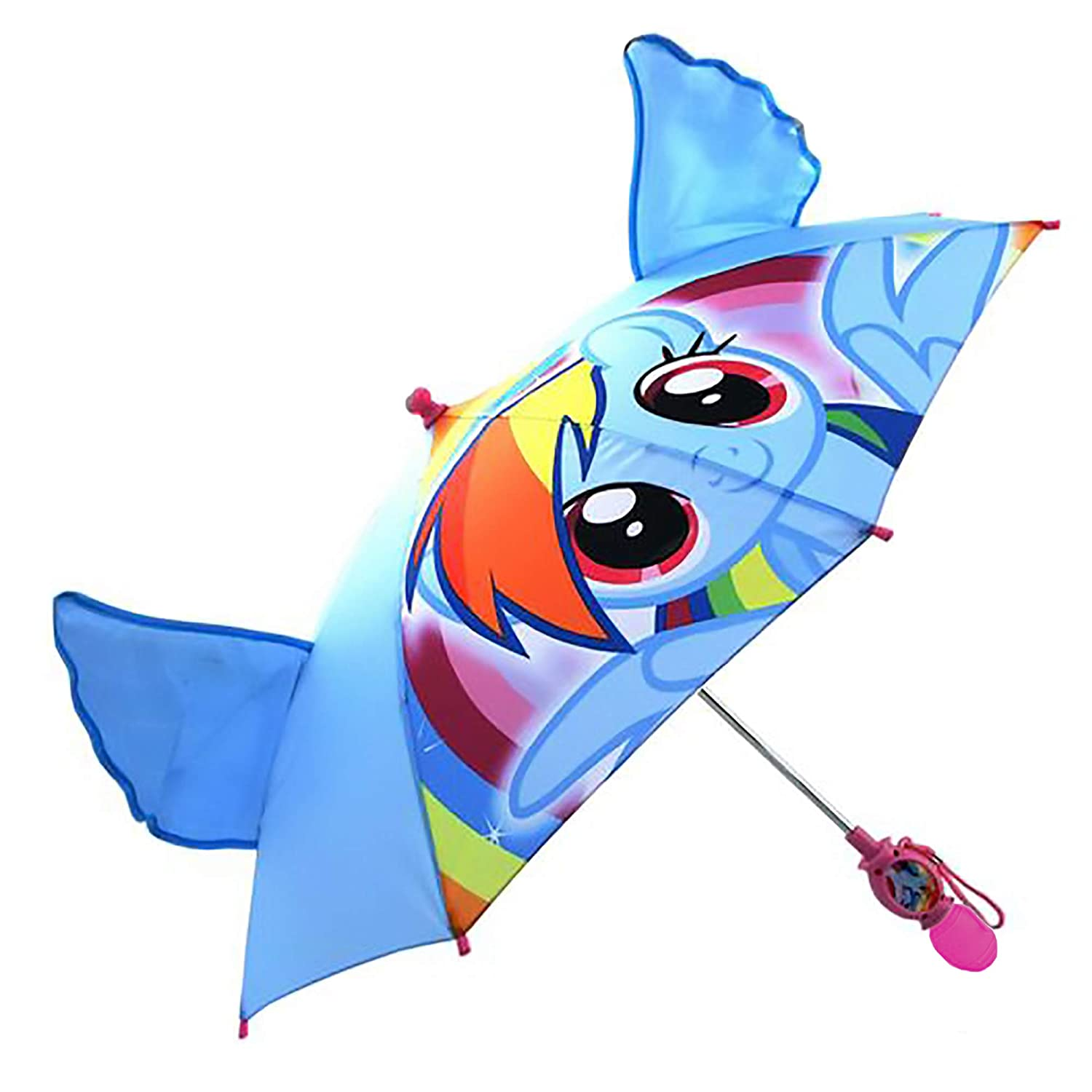 Hasbro Girls Little Pony 'Squeeze and Flap' Fun Rainwear Umbrella, Blue, Age 3-7