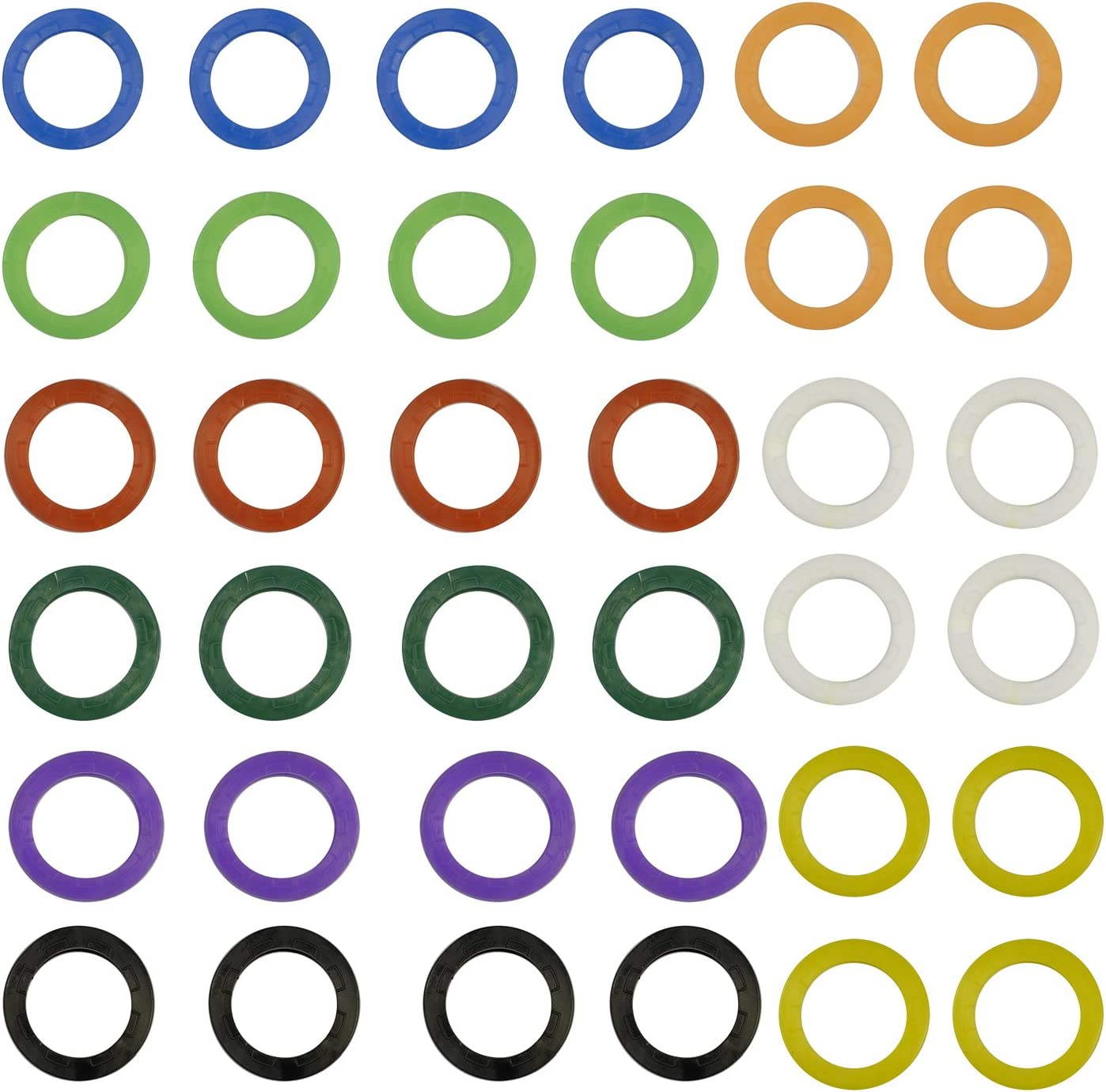 8 Colori Assortiti Key Identifier Covers Tag 32 Pack Uniclife Chiave cap Covers Anelli