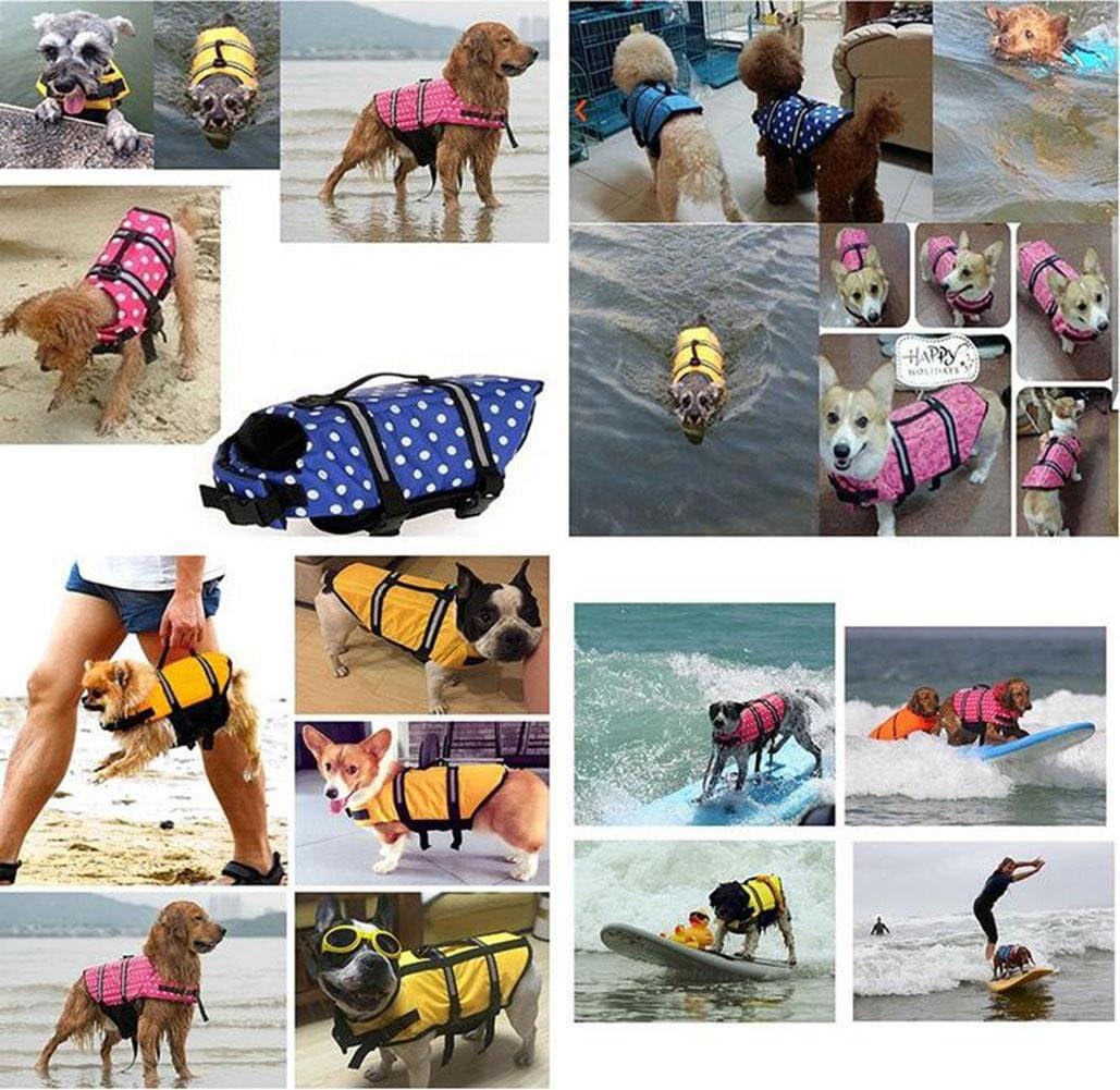 Oxford Breathable Mesh Pet gro/ße Hund Schwimmweste XXS ~ XXL Sommer Hund Bademode Welpen Schwimmweste Sicherheit Kleidung f/ür Hunde