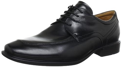 ECCO Men's Cairo Apron Toe Tie Oxford,Black,39 EU/5-5.5