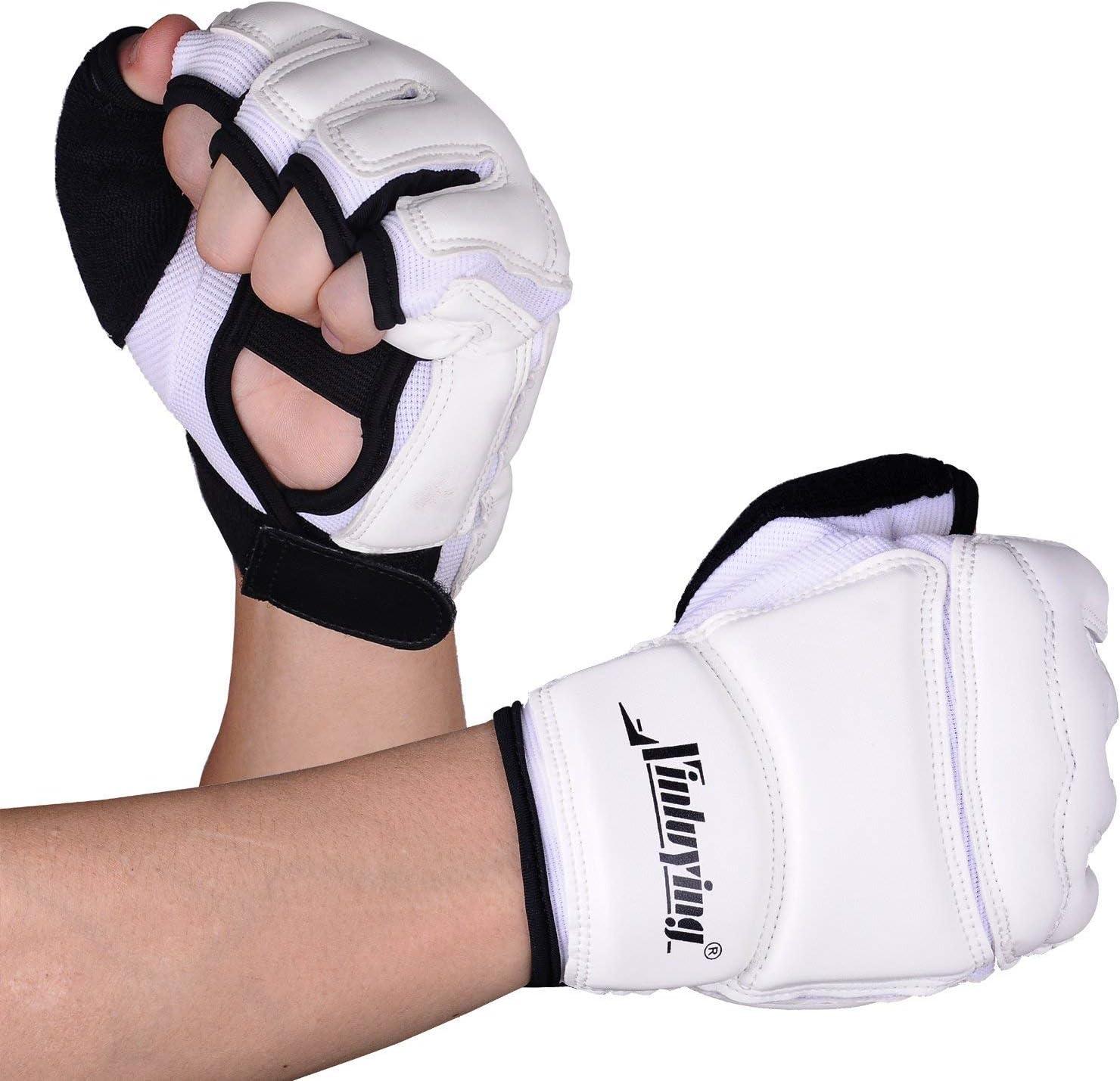 Xinluying Boxhandschuhe MMA Kickboxen Handschuhe Kinder Punchinghandschuhe Taekwondo Kampfsport Grapling Freefight Boxsack Sandsack Boxer Thai Sparring Training Herren Damen
