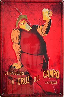 Metal Tin Sign 8x12 Inches Tin Sign Cruzcampo Spanish Beer Decor ...