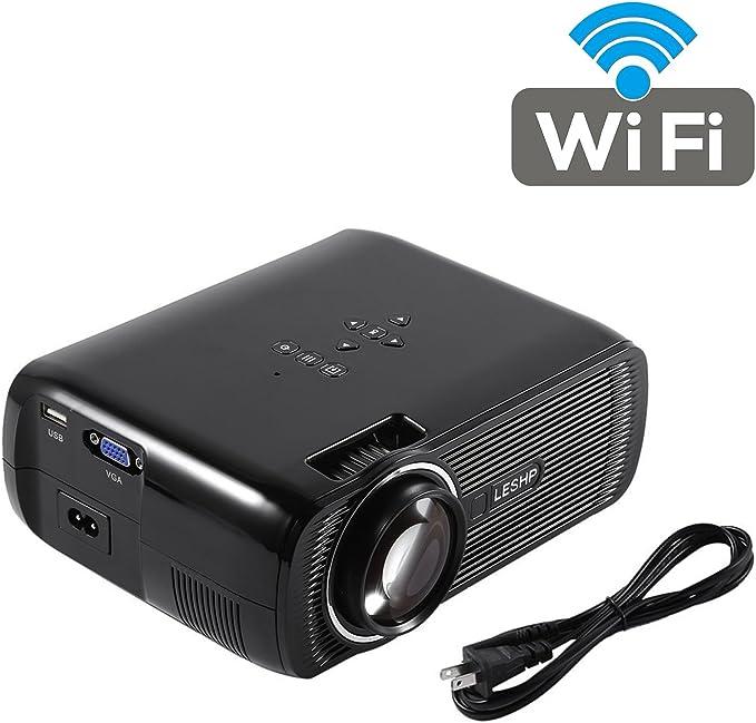 leshp A8 portátil proyector 1500 lumens LED proyector de vídeo ...