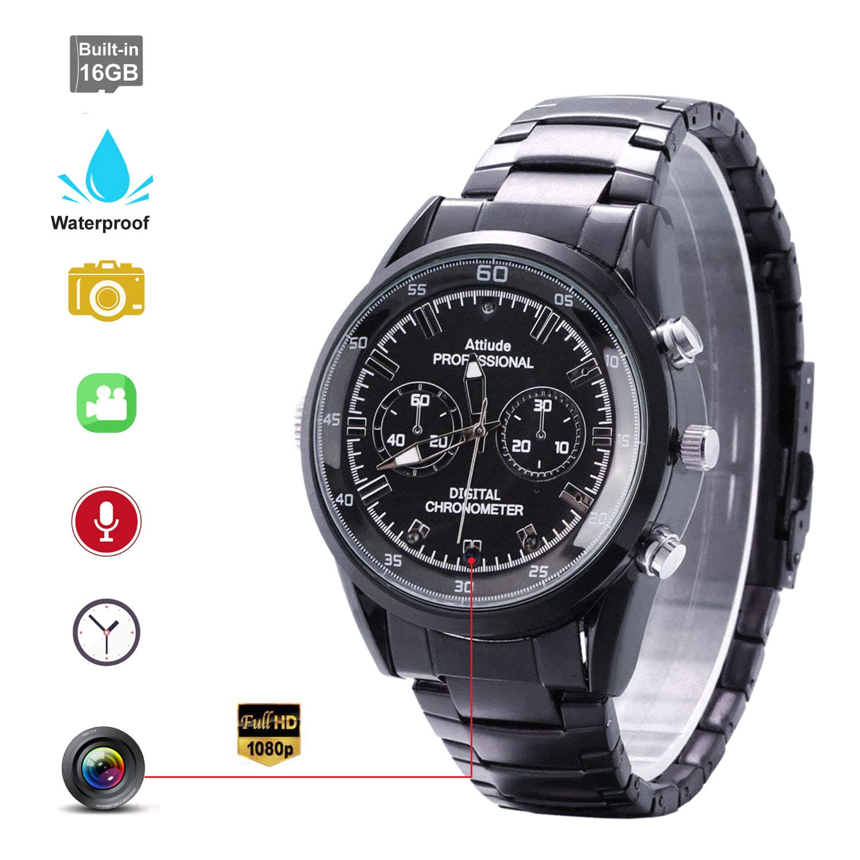186449efafc Hidden Camera Wrist Watch Camera Waterproof Hidden Spy Camera with Smart Watch  HD 1920×1080P Motion Detection Infrared Night Vision High-end Camera 16GB