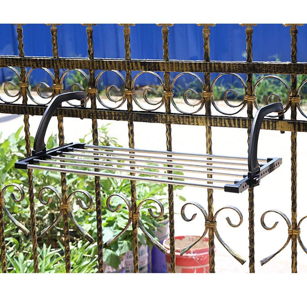 KoToTip Stendibiancheria Pieghevole Asciugamani Asciugamani in Acciaio Inox Appendiabiti con Clip per Balcone davanzale