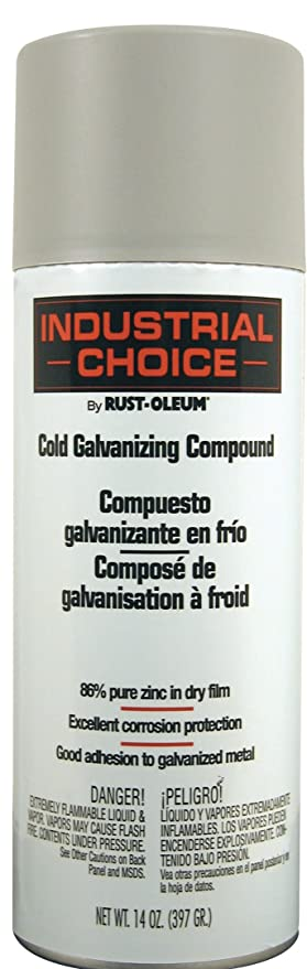 Rust-Oleum 1685830 1600 System Galvanizing Compound Spray Paint, 14-Ounce,  Cold Galvanizing