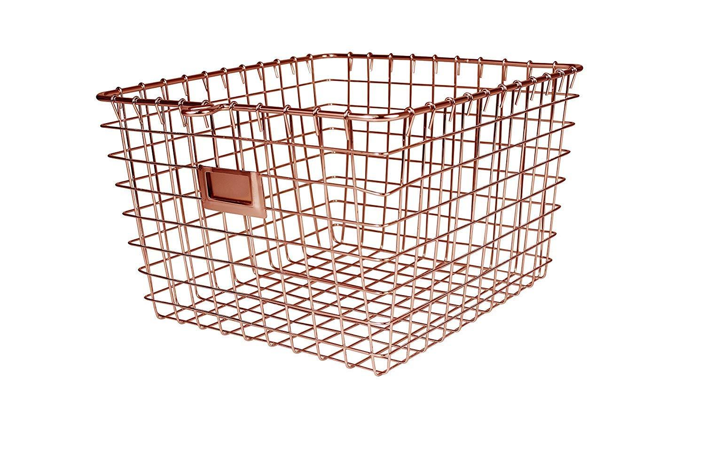 Spectrum Diversified Wire Storage Basket, Medium, Copper